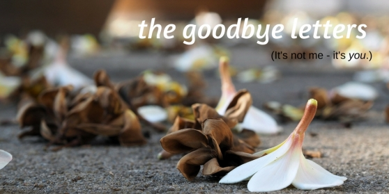 the goodbye letters